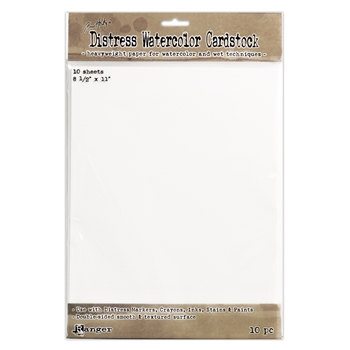 Tim Holtz 8.5 X 11 DISTRESS WATERCOLOR CARDSTOCK Ranger TDA53927