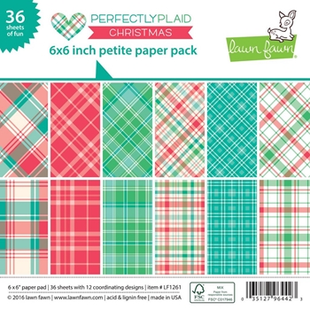 Lawn Fawn PERFECTLY PLAID CHRISTMAS Petite 6x6 Paper Pack LF1261