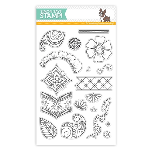 Simon Says Clear Stamps HENNA PATTERNS SSS101641 STAMPtember