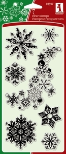 Inkadinkado Clear Stamps SNOWFLAKES-A-PLENTY 98397 zoom image