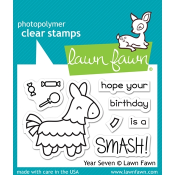 Lawn Fawn YEAR SEVEN Clear Stamps LF1338