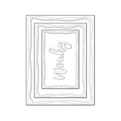 RESERVE Simon Says Stamp WONKY RECTANGLES Wafer Dies SSSD111714 Cherished