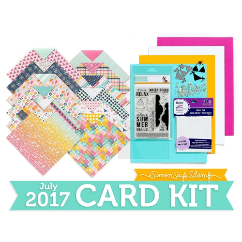 Simon Says Stamp Card Kit of The Month JULY 2017 HELLO SUMMER CK0717