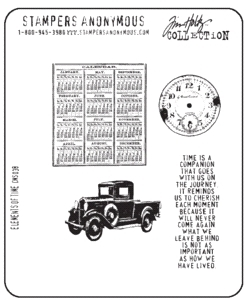Tim Holtz Cling Rubber Stamps ELEMENTS OF TIME Stampers Anonymous CMS038 zoom image