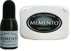 Memento TUXEDO BLACK INK PAD and REFILL ME-900 and 23900 zoom image