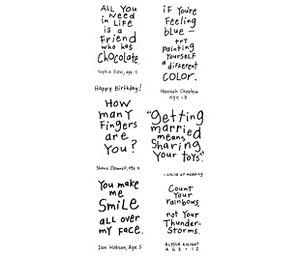 Inkadinkado Clear Stamps FRIENDLY ADVICE Kid Quotes Advise 99181