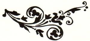 Tim Holtz Rubber Stamp TATTOO FLOURISH Stampers Anonymous K3-1422 zoom image