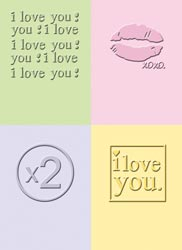Cuttlebug Embossing Folder Set I LOVE YOU Provo Craft 37-1552* zoom image