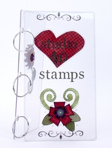 Wendy Vecchi Studio 490 LARGE ACRYLIC COVERS & RINGS Storage Binder Cling Stamp zoom image