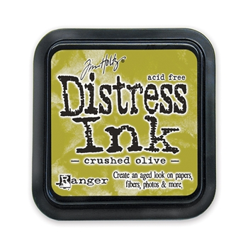 Tim Holtz Distress Ink Pad CRUSHED OLIVE Ranger TIM27126