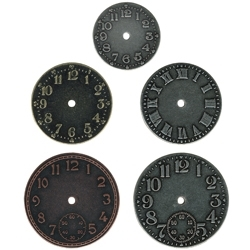 Tim Holtz Idea-ology TIMEPIECES Metal Watch Clock Face TH92831 zoom image