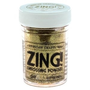 American Crafts Zing! GOLD Glitter Embossing Powder