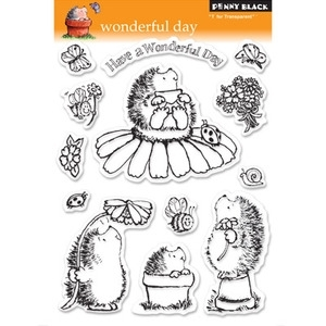 Penny Black Clear Stamps WONDERFUL DAY Hedgy Hedgehog 30-045 zoom image