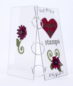 Wendy Vecchi Studio 490 SMALL ACRYLIC COVERS & RINGS Stamp Storage Binder* zoom image
