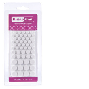 American Crafts FOAM DOTS Adhesive Circles 61709 This to That zoom image