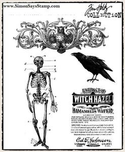 Tim Holtz Cling Rubber Stamps HAUNTED MANSION cms091 zoom image