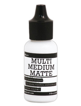 Ranger .5 Oz. MINI MULTI MEDIUM MATTE Glue Adhesive Paint INK41511