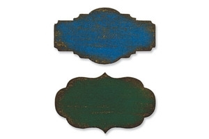 Tim Holtz Sizzix Die MINI STYLED LABELS Movers & Shapers Alterations 657214 zoom image