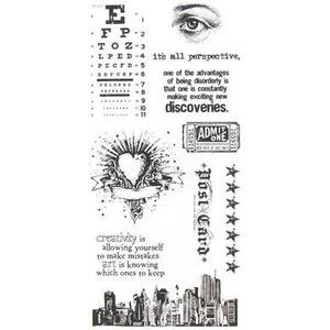 Tim Holtz Visual Artistry CITY CENTRAL Clear Stamps Set css27911 zoom image