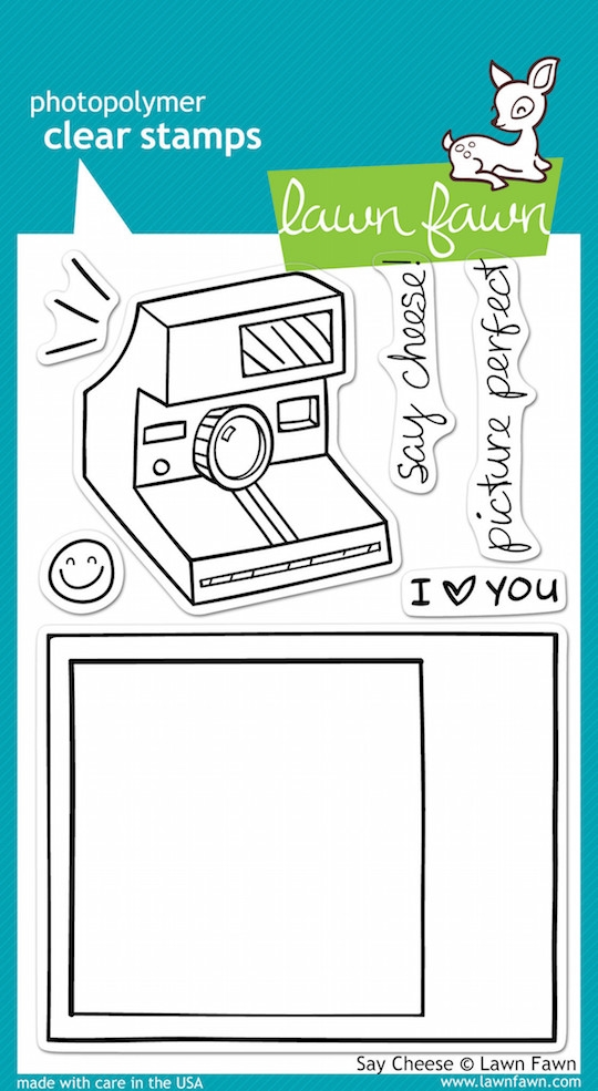 Lawn Fawn SAY CHEESE Clear Stamps zoom image