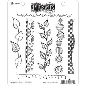 Dyan Reaveley AROUND THE EDGE Stamp Set Dylusions Cling Unmounted Rubber DYR34421 zoom image