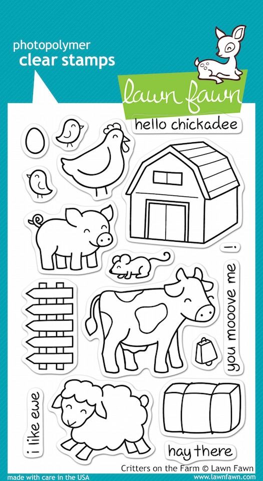 Lawn Fawn CRITTERS ON THE FARM Clear Stamps zoom image