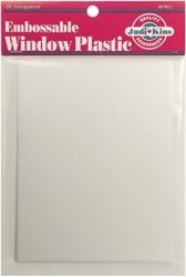 Judikins EMBOSSABLE WINDOW PLASTIC POSTCARD SHEETS AP405