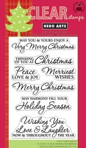 Hero Arts Clear Stamps VERY MERRY CHRISTMAS CL543 zoom image