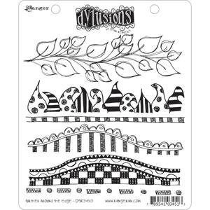 Dyan Reaveley FURTHER AROUND THE EDGE Stamp Set Dylusions Cling Unmounted Rubber dyr34513 zoom image