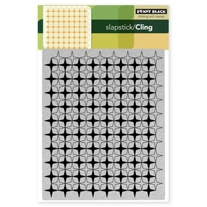 Penny Black Cling Stamp RETRO PATTERN 40-086 Rubber Unmounted zoom image