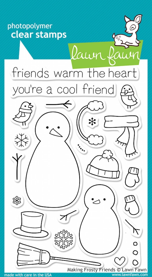 Lawn Fawn MAKING FROSTY FRIENDS Clear Stamps zoom image