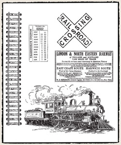 Tim Holtz Cling Rubber Stamps ON THE RAILROAD cms127 zoom image