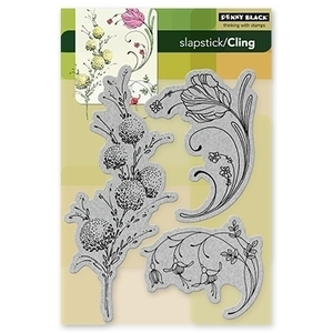 Penny Black Cling Stamps DELICATE FLORALS Rubber Unmounted 40-103