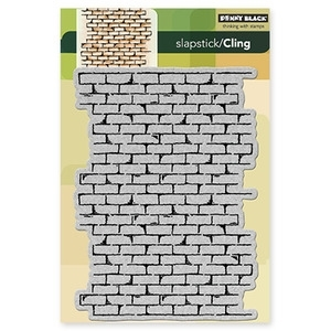 Penny Black Cling Stamp BRICK WALL Rubber Unmounted 40-137 zoom image