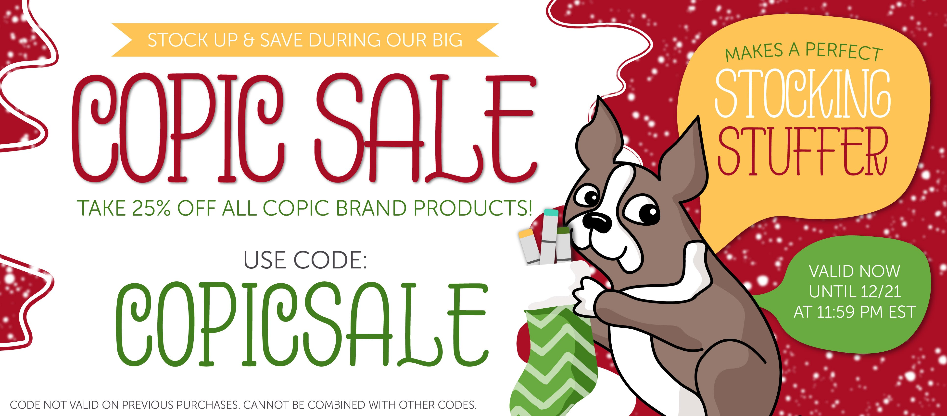 Copic Markers 25% off with code!