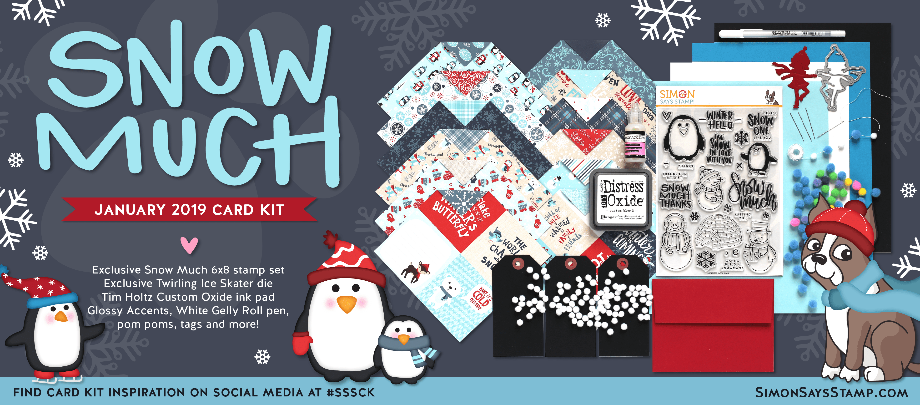 January 2019 Card Kit Snow Much