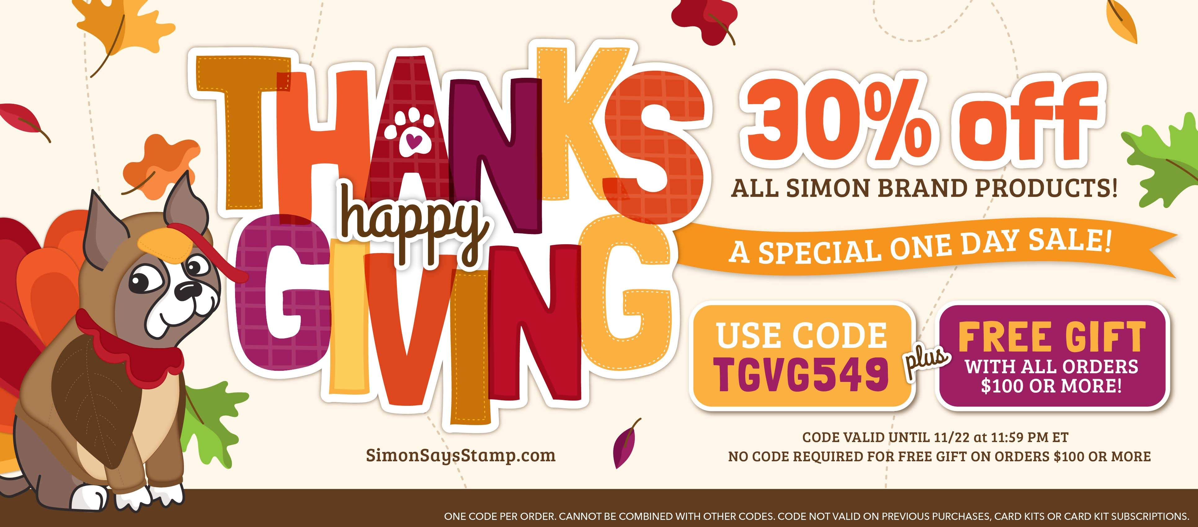 Thanksgiving 30% off Sale