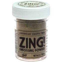 American Crafts Zing! METALLIC GOLD Embossing Powder Preview Image