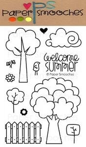 Paper Smooches SUMMER GROVES Clear Stamps Kim Hughes Preview Image