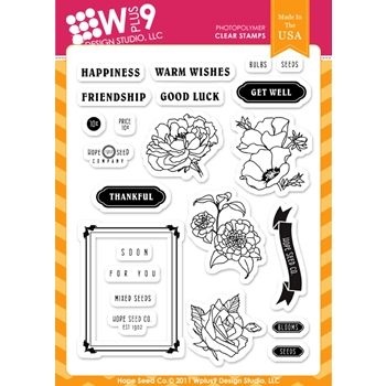 Wplus9 HOPE SEED CO Clear Stamps 16491