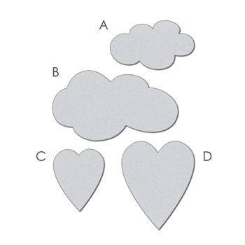 Wplus9 HEARTS AND CLOUDS Designer Dies WP9D-010
