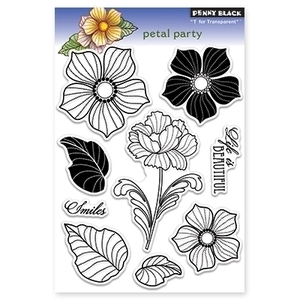 Penny Black Clear Stamps PETAL PARTY Transparent 30-113 zoom image