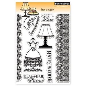 Penny Black Clear Stamps LACE DELIGHT Transparent 30-115