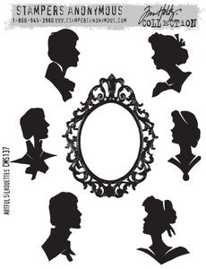 Tim Holtz Cling Rubber Stamps ARTFUL SILHOUETTES cms137 zoom image