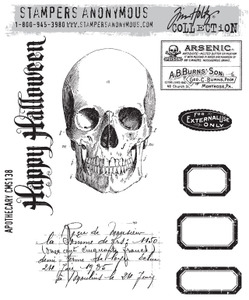Tim Holtz Cling Rubber Stamps APOTHECARY cms138