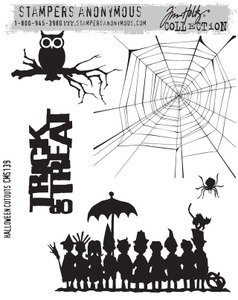 Tim Holtz Cling Rubber Stamps HALLOWEEN CUTOUTS CMS139 zoom image