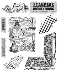 Stampers Anonymous Cling Rubber Stamps CLASSICS #7 SCF007 zoom image