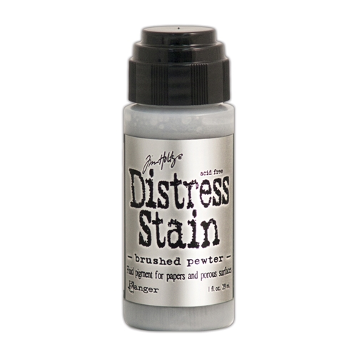 Tim Holtz Distress Ink Stain BRUSHED PEWTER Ranger Metallic TDW35190 Preview Image
