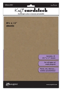 Ranger 8.5 x 11 KRAFT CARDSTOCK Inkssentials Surfaces ISM35244*