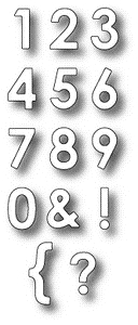 Memory Box PARKER NUMBERS Craft DIE 98365 Preview Image